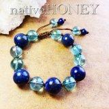 <数量限定>NativeHoney308 lapis lazuli×aquaaura ラピスラズリ×アクアオーラ 成功、お守り、創造力、浄化