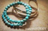 NativeHoney317 Turquoise bracelet ターコイズ2連ブレスレット